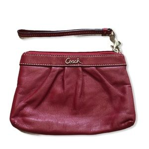 COACH Red Leather Wristlet